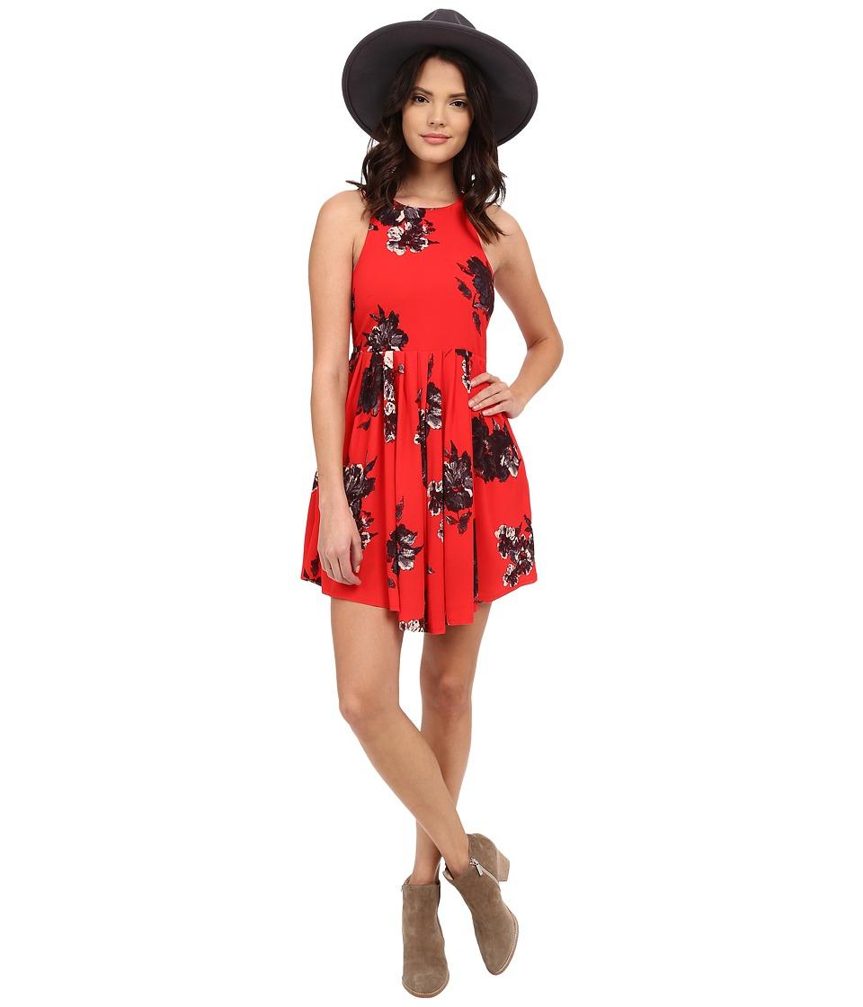 Free People Flutter by Sleeveless Dress Cherry Combo Womens Dress