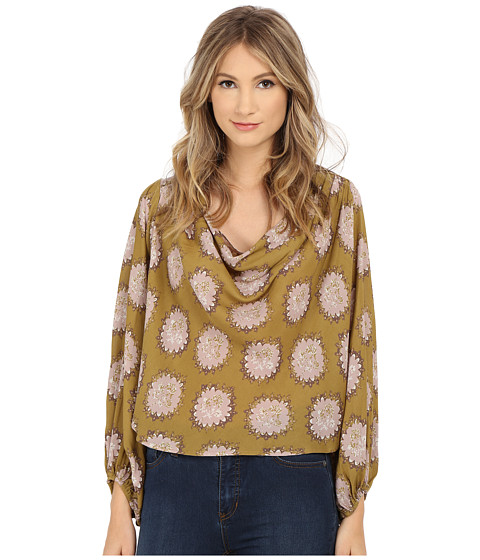 Free People Printed Cowling Around Top