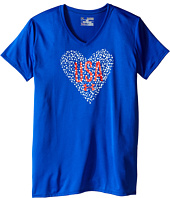 Under Armour Kids - USA Heart V-Neck Short Sleeve Tee (Big Kids)