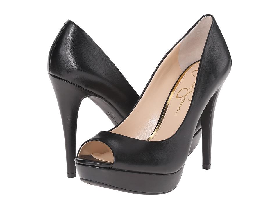 Jessica Simpson Kelii Black Soft Nappa Silk Womens Toe Open Shoes