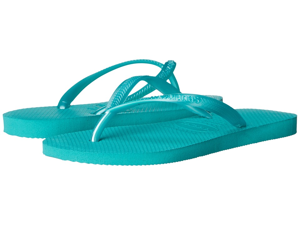 Havaianas Kids Slim Flip Flops Toddler/Little Kid/Big Kid Lake Green Girls Shoes