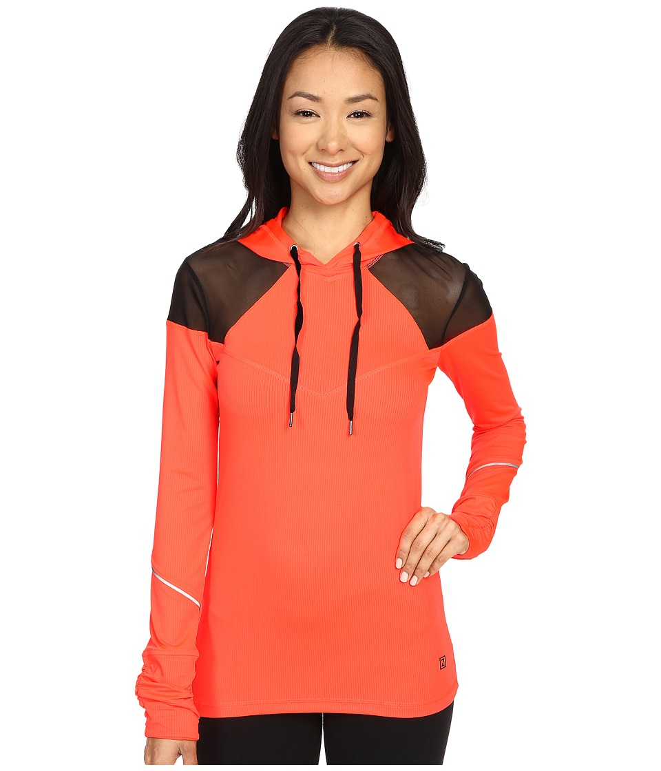 Zobha Long Sleeve Hoodie w/ Mesh Panels Firewater Womens Sweatshirt