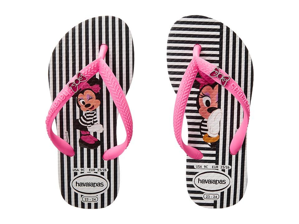 Havaianas Kids Disney Cool Toddler/Little Kid/Big Kid White/Shocking Pink Girls Shoes