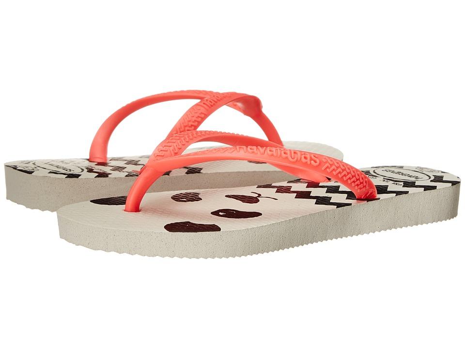 Havaianas Kids Slim Fashion Toddler/Little Kid/Big Kid White Girls Shoes