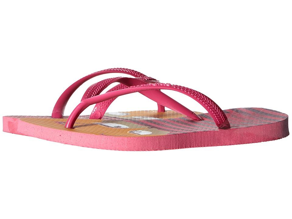 Havaianas Kids Slim Fashion Toddler/Little Kid/Big Kid Shocking Pink Girls Shoes