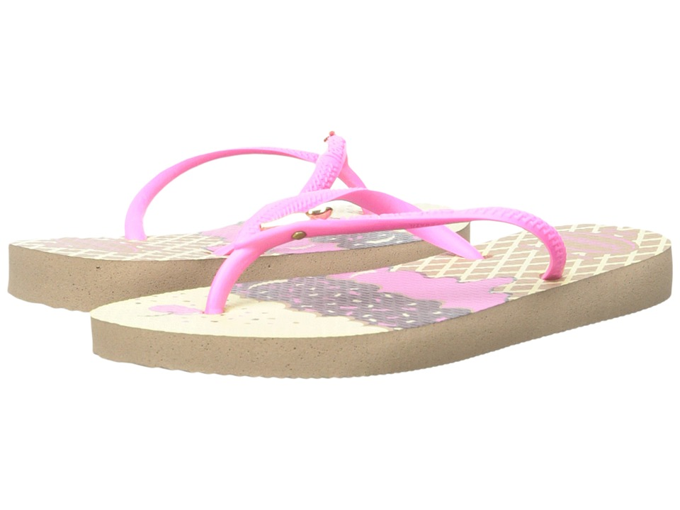 Havaianas Kids Slim Pop Toddler/Little Kid/Big Kid Rose Gold Girls Shoes