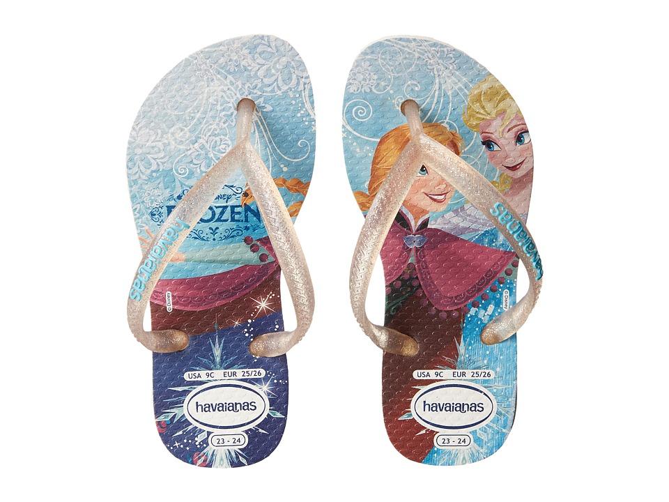 Havaianas Kids - Slim Princess Disney Flip Flops (Toddler/Little Kid/Big Kid) (White) Girl
