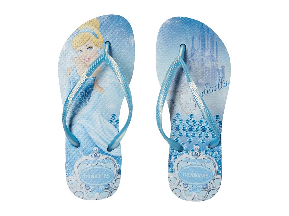 Havaianas Kids Slim Princess Disney Flip Flops Toddler/Little Kid/Big Kid Lavender Blue Girls Shoes