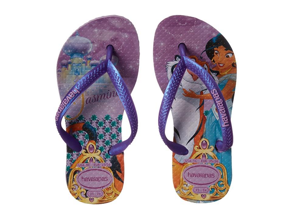 Havaianas Kids Slim Princess Disney Flip Flops Toddler/Little Kid/Big Kid Lilac/Lilac Girls Shoes