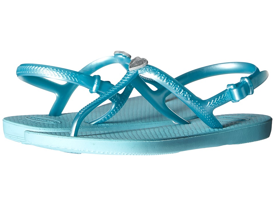 Havaianas Kids Freedom Toddler/Little Kid/Big Kid Ice Blue Girls Shoes