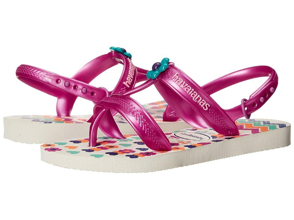Havaianas Kids Joy Spring Toddler/Little Kid/Big Kid White Girls Shoes