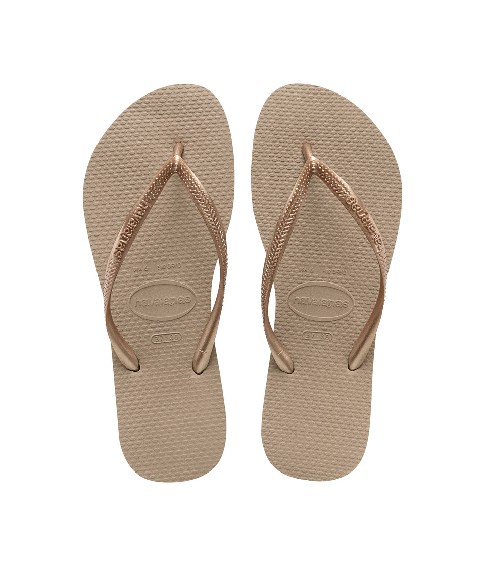 Havaianas Slim Flip Flops (Rose Gold) Sandals