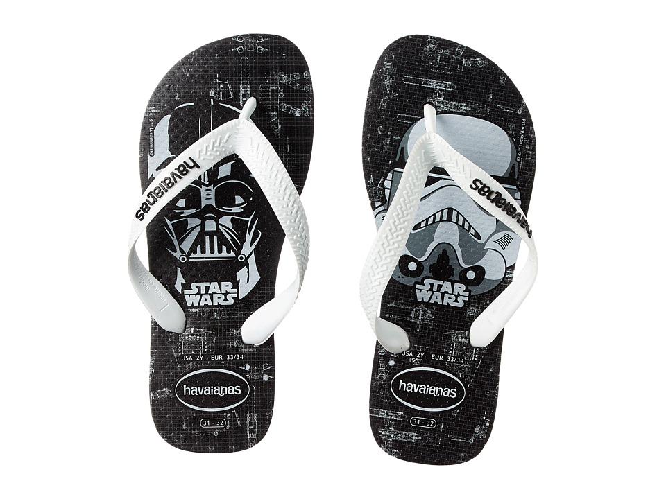 Havaianas Kids Star Wars Toddler/Little Kid/Big Kid Black/White Boys Shoes