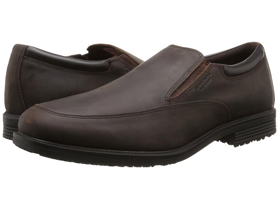 Rockport Essential Details Waterproof Slip On (Dark Tan) Men