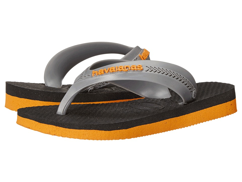 Havaianas Kids Max Toddler/Little Kid/Big Kid Orange/Black Boys Shoes