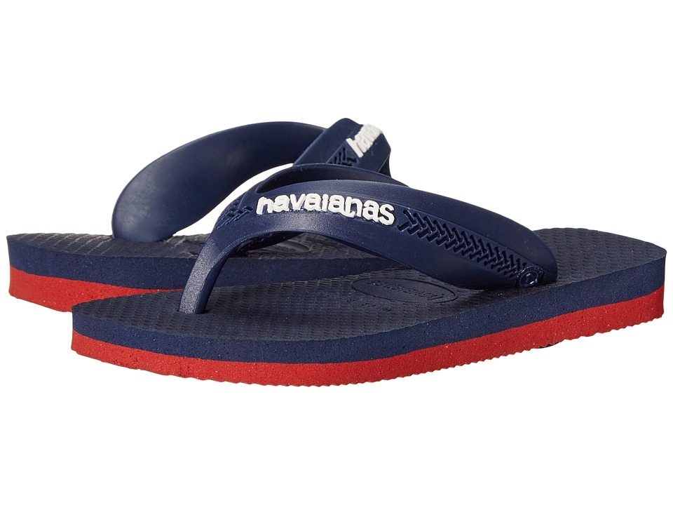 Havaianas Kids Max Toddler/Little Kid/Big Kid Red/Navy Blue Boys Shoes