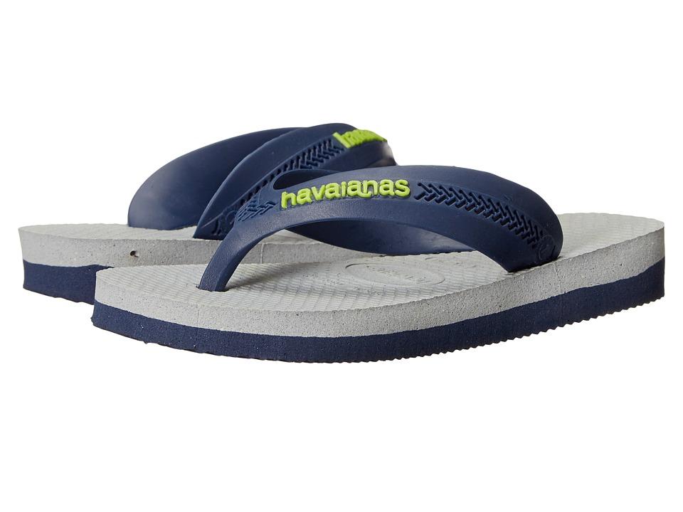 Havaianas Kids Max Toddler/Little Kid/Big Kid Navy Blue/Ice Grey Boys Shoes