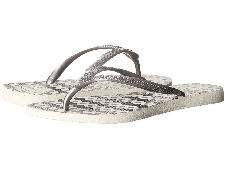 Havaianas Slim Fresh Flip Flops White Womens Sandals