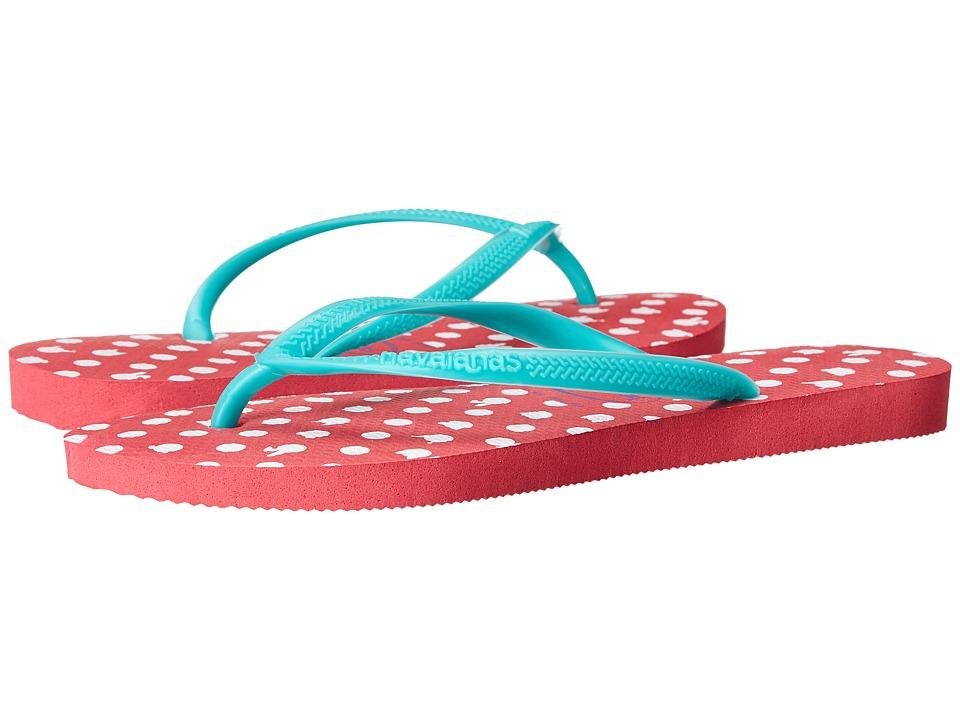 Havaianas Slim Fresh Flip Flops Neon Pink Womens Sandals