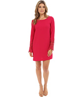 Brigitte Bailey - Florence Woven Dress w/ Lace Sleeves