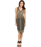 Brigitte Bailey - Rashida Sleeveless V-Neck Printed Dress