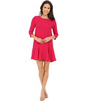 Brigitte Bailey - Delia 3/4 Sleeve Drop Waist Dress