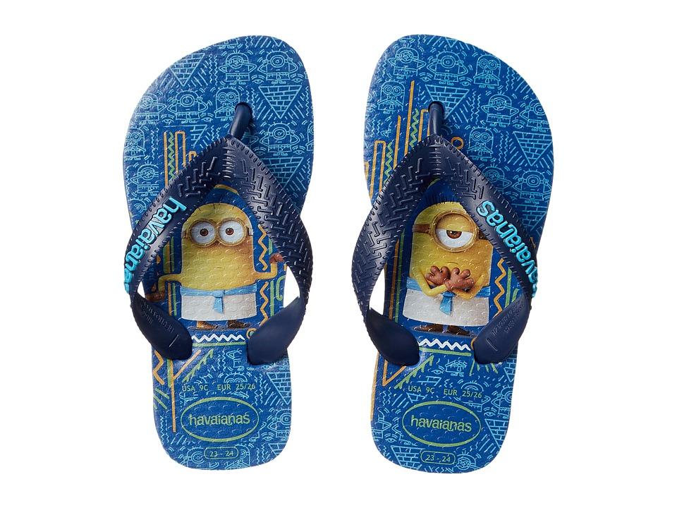 Havaianas Kids Minions Flip Flop Toddler/Little Kid/Big Kid Blue Star Kids Shoes