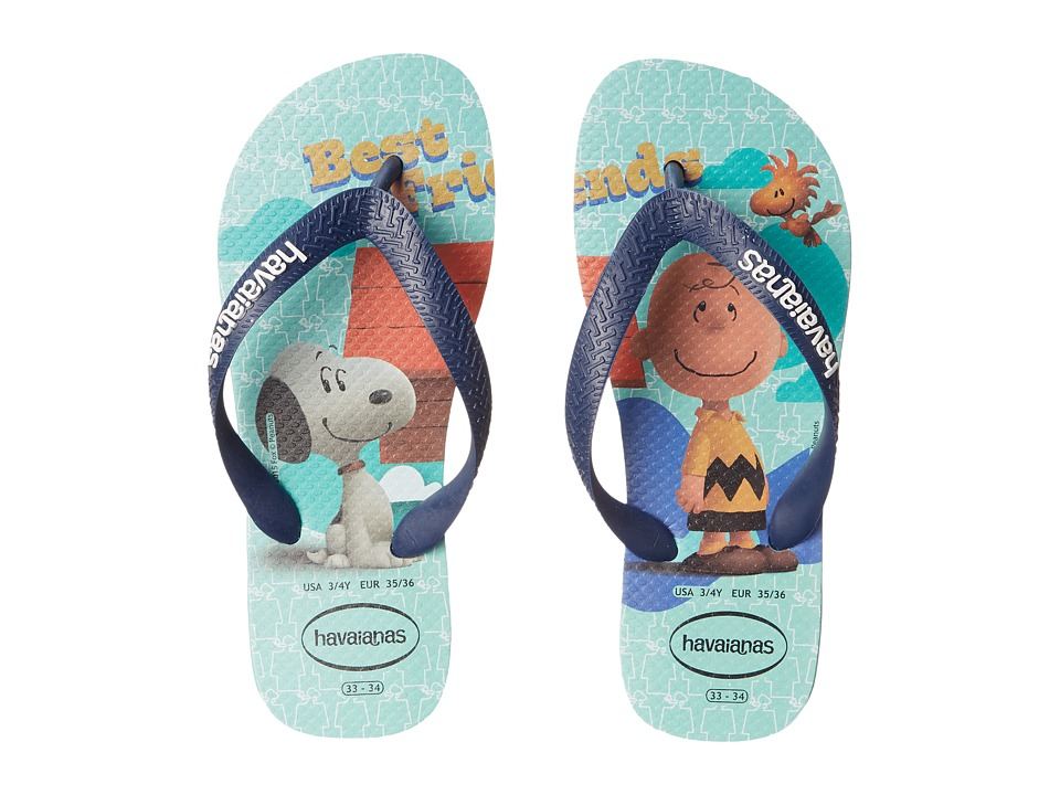 Havaianas Kids Snoopy Flip Flop Toddler/Little Kid/Big Kid Ice Blue Boys Shoes