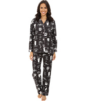 P.J. Salvage - Fall into Flannel Coffee Print Pajama Set