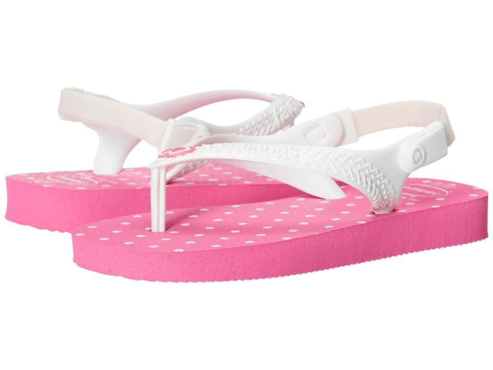 Havaianas Kids Chic Toddler Shocking Pink/White Girls Shoes