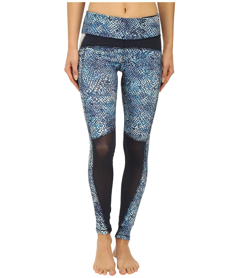 Zobha Fitted Leggings w/ Contrast Blocking Diva Blue Womens Casual Pants