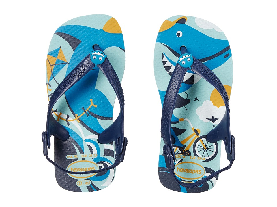 Havaianas Kids Baby Pets Toddler Ice Blue Boys Shoes