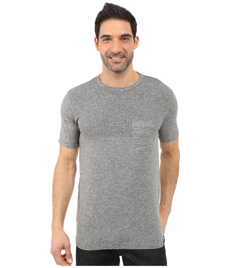 The North Face Short Sleeve Engine Crew Mid Grey Heather Mens Short Sleeve Pullover
