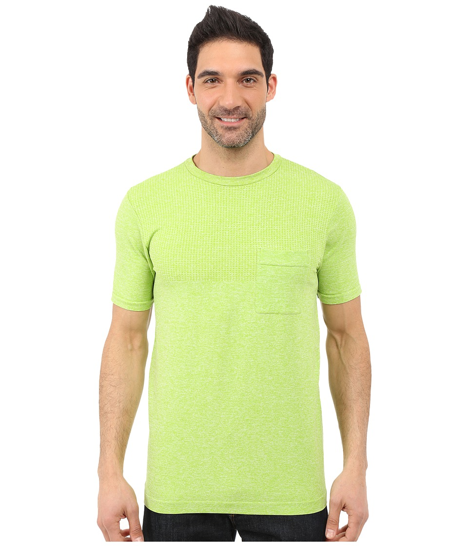 The North Face Short Sleeve Engine Crew Macaw Green Heather Mens Short Sleeve Pullover