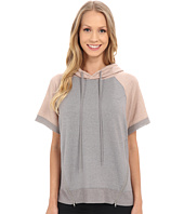 Zobha - Short Sleeve Pullover w/ Color Blocking and Mesh Contrast