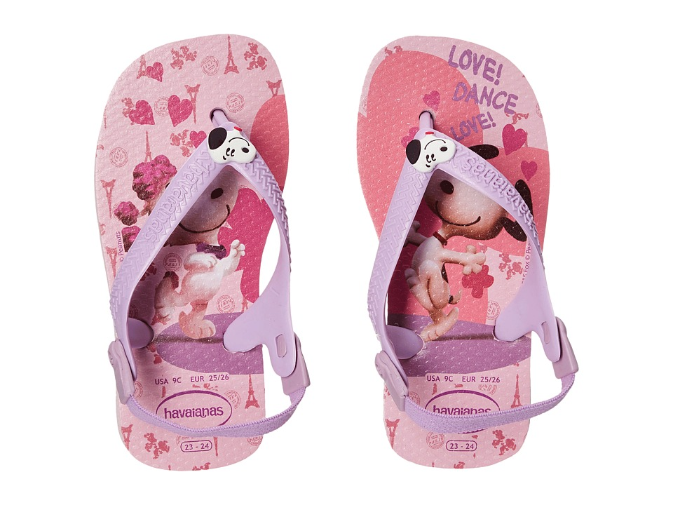 Havaianas Kids Snoopy Flip Flop Toddler Pink/Lilac Girls Shoes