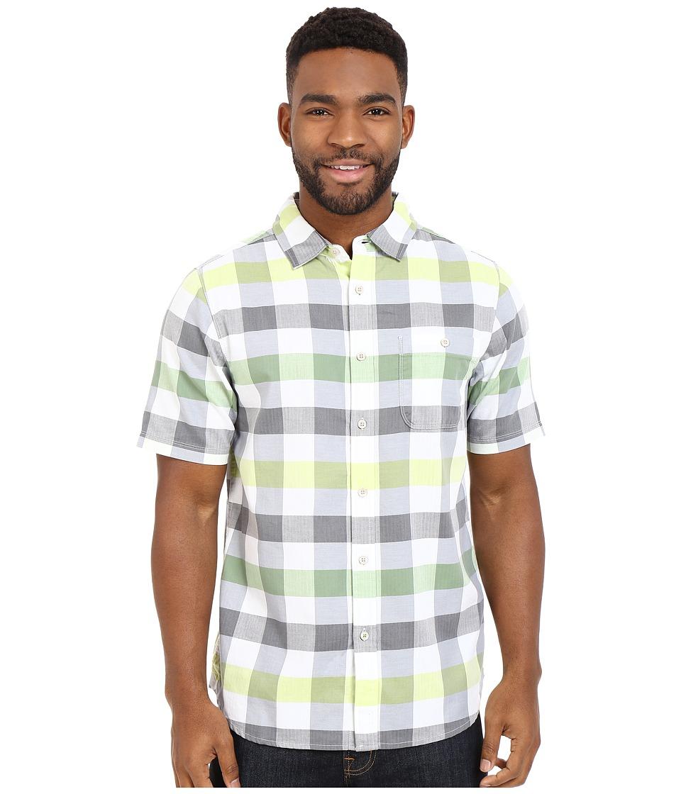 The North Face Short Sleeve Send Train Shirt Vibrant Green Plaid Mens Short Sleeve Button Up