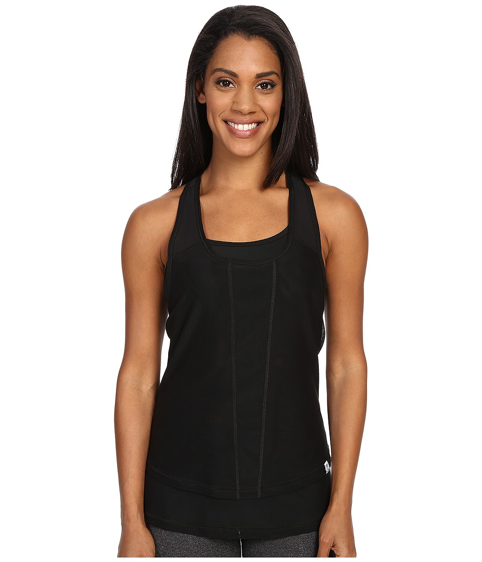 Zobha Cody Mesh Racerback Singlet Black Womens Workout