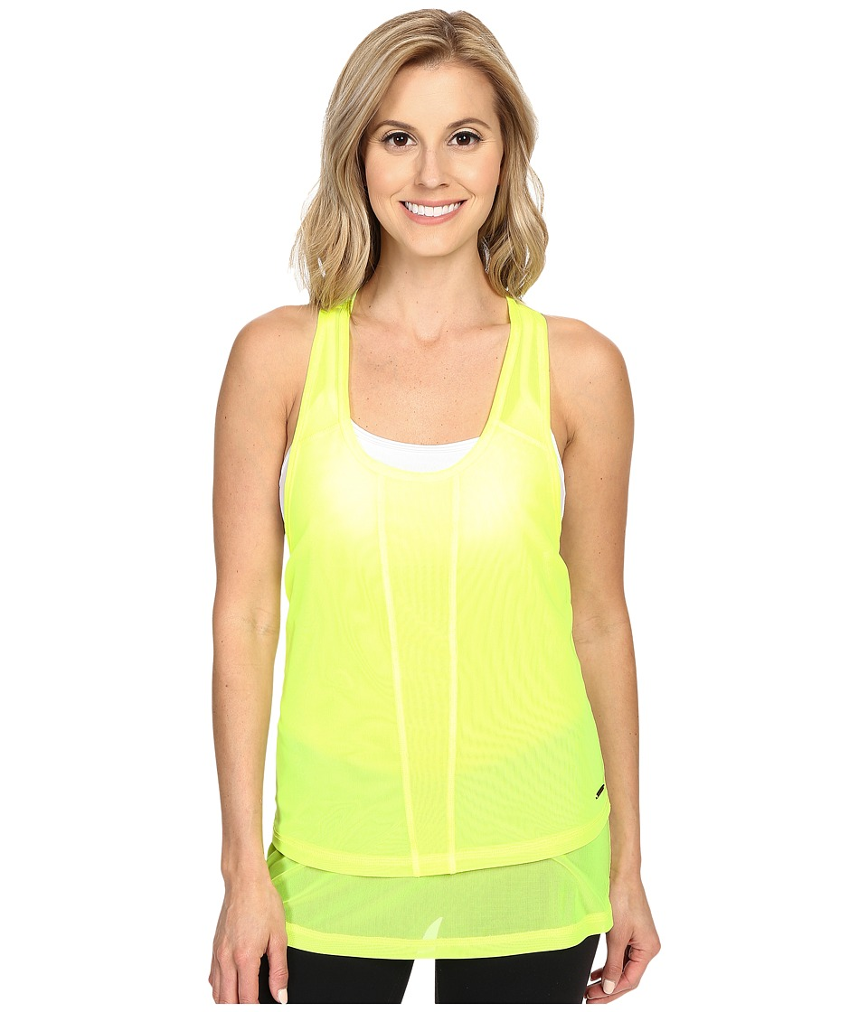 Zobha Cody Mesh Racerback Singlet Lemon Balm Womens Workout