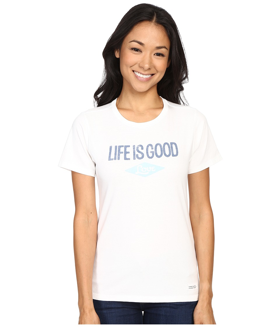 Life is good - Life Is Good Love Crusher Tee (Cloud White) Women