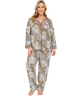 Betsey Johnson - Plus Size Animal Print Pajama Set