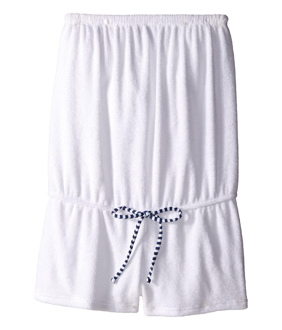 Splendid Littles Midnight Stripe Terry Romper Cover Up Big Kids White Girls Swimsuits One Piece