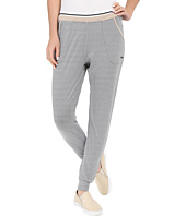 Zobha - Slim Jogger Ankle Pants w/ Double Elastic Band and Stripe Elastic