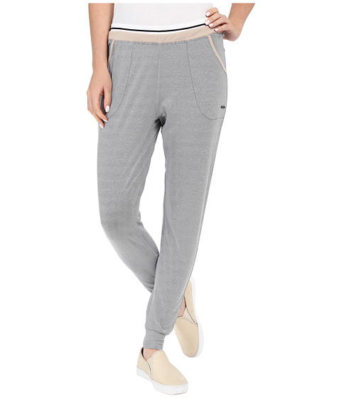 Zobha Slim Jogger Ankle Pants w/ Double Elastic Band and Stripe Elastic
