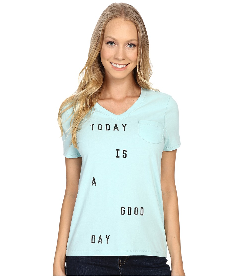 Life is good Today Is A Good Day Pocket Sleep Vee Cool Mint Womens Pajama