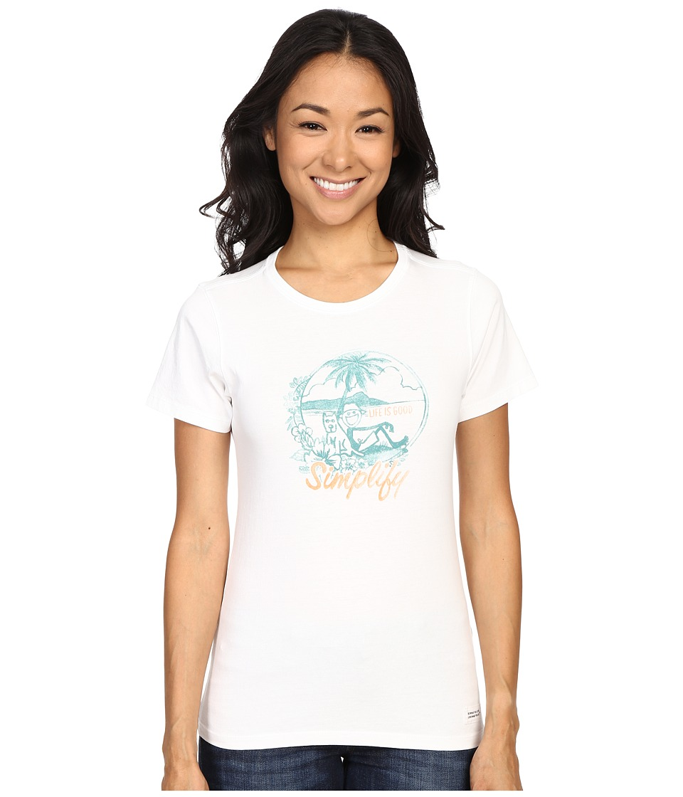Life is good Life Is Good Beach Crusher Tee Cloud White Womens T Shirt