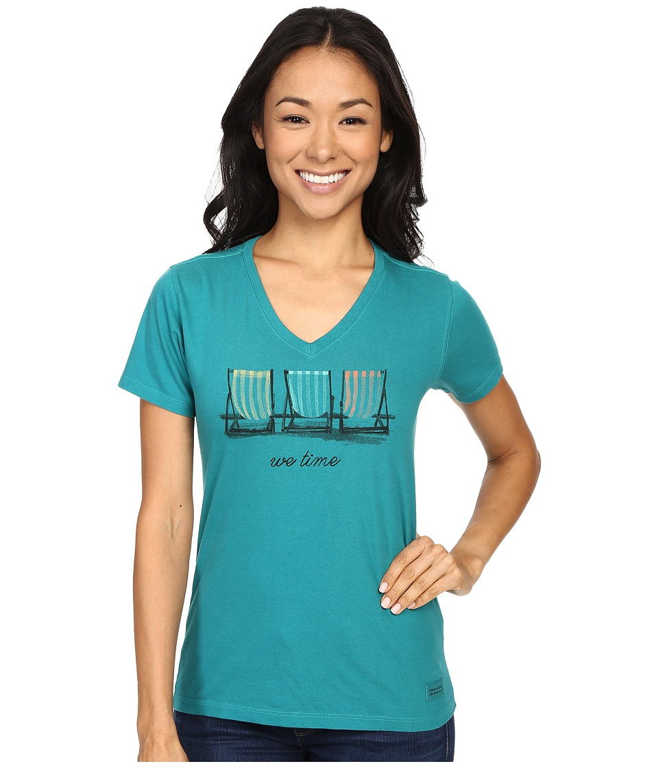 Life is good - We Time Chairs Crusher Tee (Beachy Teal) Women