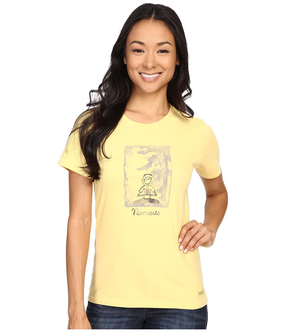 Life is good - Namaste Crusher Tee (Sunny Yellow) Women