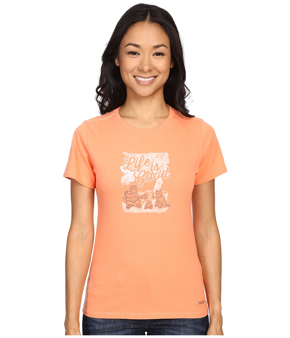 Life is good Life Is Good Campfire Crusher Tee Fresh Peach Womens T Shirt
