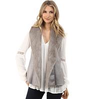 Brigitte Bailey - Marcella Suede Vest w/ Faux Fur